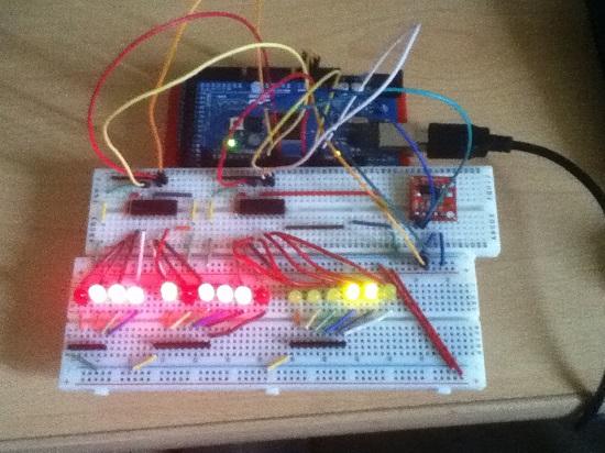 Home Made Binary Clock using Arduino UNO - YouTube